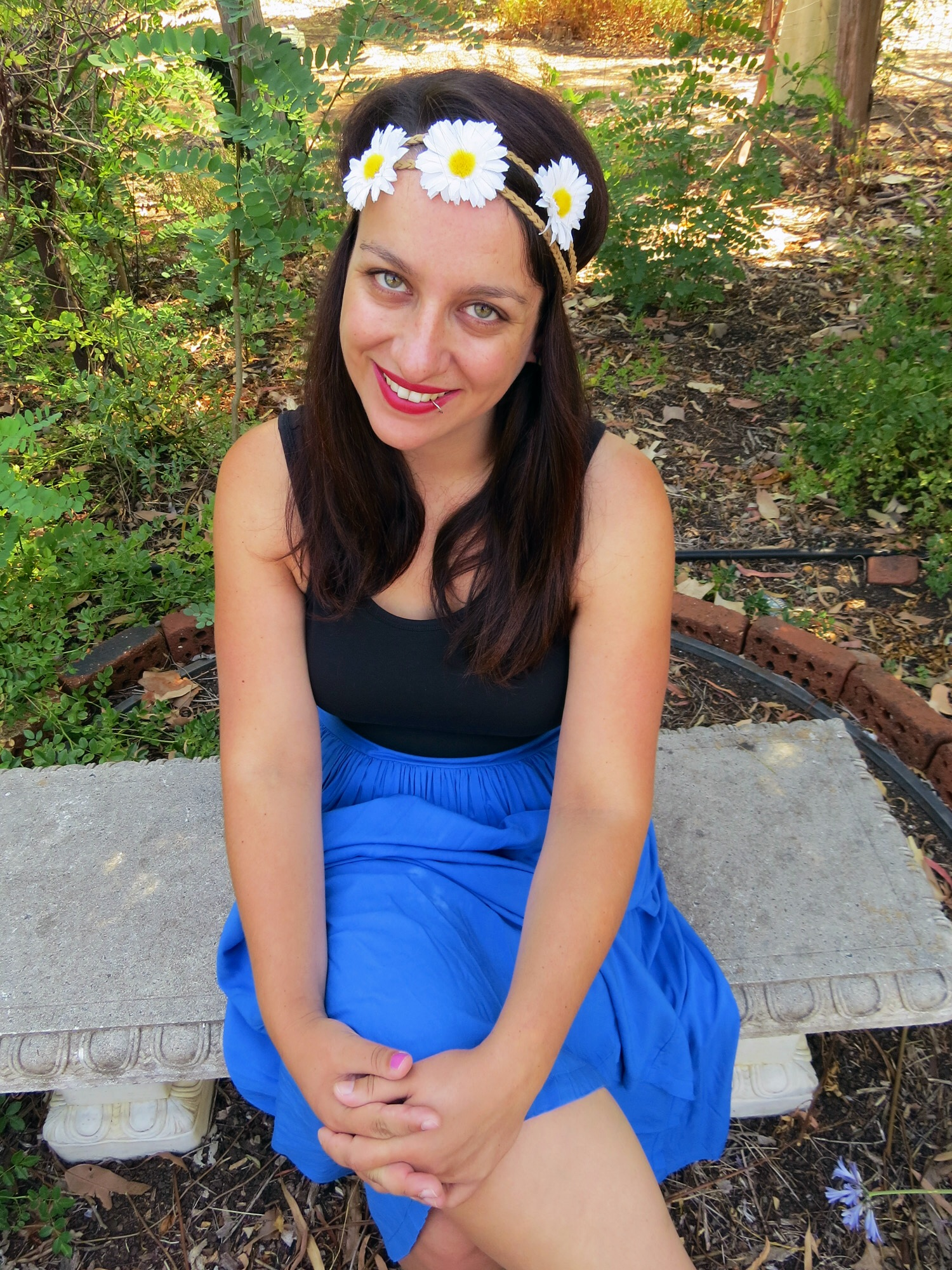 I m forever flower obsessed and when I saw this daisy chain headband at  Kmart recently I couldn t walk past it. The combination of the flowing  skirt and ... b1579fdcd62
